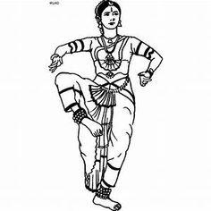 Folk Dances of India Coloring Pages, Gujarati Folk Dance