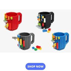 DIY Creative 1 Piece Build-On Brick Lego Mug Type Building Blocks Coffee Cups DIY Block Puzzle Mugs Drinking Cups Drinkware. Category: Home & Garden. Lego Mug, Frozen Coffee, Lego Building Blocks, Brick Building, Lego Brick, Drinking Tea, Drinking Funny, Drinking Glass, Mason Jars