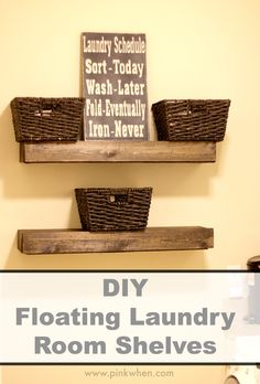 Diy Floating Laundry Room Shelves