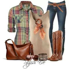 what a great outfit.....love the plaid button up......i really love the whole look.....