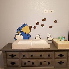 Totoro Bedroom, Totoro Nursery, Cool Teen Bedrooms, Kids Bedroom, Bedroom Themes, Nursery Themes, Otaku Room, Nursery Decals, Nursery Organization