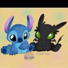 ...stitch and toothless...