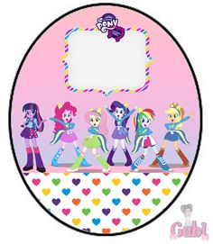 Kit Equestria Girls ( My Little Pony ) Equestria Girls, Powerpuff Girls, Adventure Time Anime, Princess Bubblegum, Marceline, Twilight Sparkle, Fluttershy, Festa Do My Little Pony, Cumpleaños Lady Bug