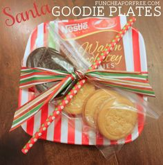 Santa Goodie Plate + 24 last-minute cheap and easy neighbor gift ideas! From FunCheapOrFree.com