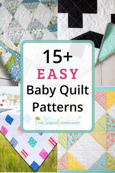 Everyone needs a simple baby quilt pattern in their arsenal. Find one that can be easily assembled and quilted and you'll never wonder what to gift to give at the next baby shower you attend. Free Baby Quilt Patterns, Baby Quilt Tutorials, Beginner Quilt Patterns, Quilting Patterns, Easy Sewing Projects, Sewing Projects For Beginners, Sewing Hacks, Quilting Tips, Quilting Projects