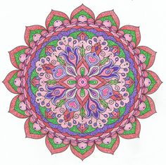 This is Cheerful Oasis colored by Lois S. One of 100+ printable mandalas you can color too! https://mondaymandala.com/m/cheerful-oasis?utm_campaign=sendible-pinterest&utm_medium=social&utm_source=pinterest&utm_content=cheerful-oasis&utm_term=fancolor
