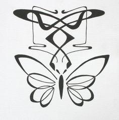 Art nouveau, butterfly, tattoo design, original artwork www Art Nouveau Tattoo, Butterfly Drawing, Butterfly Tattoo Designs, Butterfly Tattoo On Shoulder, Butterfly Wings, Steampunk Wings Tattoo, Sprinkles, Art Deco Logo, Copper Art