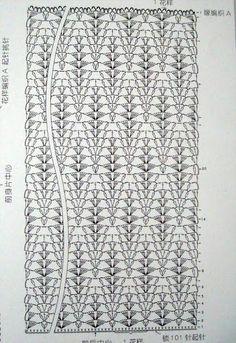 Crochet Diagram, Crochet Chart, Crochet Stitches, Knit Crochet, Shawl Patterns, Stitch Patterns, Crochet Patterns, Fillet Crochet, Crochet Blocks