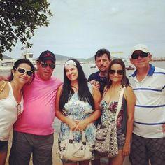 Em Santos-SP, com amigos