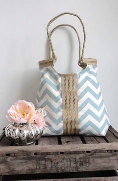 Hobo Bag with chevron print.