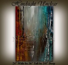 Original Acrylic Abstract painting ABSTRACT by artgallerys on Etsy, $250.00