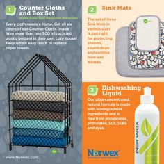 Norwex Consultants are committed to helping you save time and money by providing you with a complete line of products that are better for your health and better for the environment. With Norwex, not o Norwex Biz, Norwex Cleaning, Green Cleaning, Cleaning Hacks, Norwex Consultant, Consultant Business, Pics For Fb, Norwex Party, Sink Mats