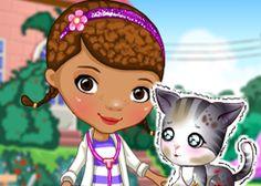 Juego: Primeros Auxilios Lindo Gatito http://doctorajuguetesjuegos.com/kittencare.html