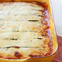 Zucchini Lasagna by Skinny Taste. This is an amazing recipe loved by all the family. Be careful with the mandolin!