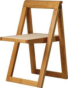 Sedia Ciak Morelato Sedia pieghevole in legno di ciliegio con seduta in pelle rivestita. Tessuto occorrente: cm 70x70. Finitura: F30. Design Centro Ricerca MAAM Misure: L 46 P 50 H 76