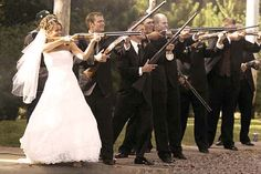 "IF IF IF i were to EVER get married .... ""21 gun salute"" by the ENTIRE wedding party (including parents of the wedded and my girls) would completely be in order and a MUST!!!"