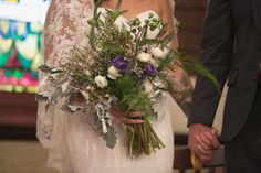 eucalyptus bouquet | Serefina & Jacob's Flower-Inspired, Vegan Maryland Wedding at Church & Company | Baltimore Wedding | Images: Bombs of Betty Photography