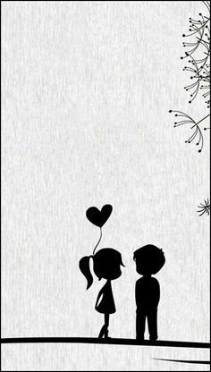 Black Cartoon Wallpaper Source by Love Cartoon Couple, Cute Couple Art, Cute Love Cartoons, Cute Couples, Painting Love Couple, Iphone 5s Wallpaper, Iphone 4s, Heart Wallpaper, Wallpaper Art