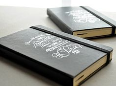 Gallery of Custom Logo embossing Jobs at Jenni Bick Bookbinding
