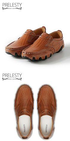 >> купить здесь << Prelesty Новый Шикарный Дизайн Мужчины Поскользнуться на Натуральной Кожи Ручной Работы Мужские Мокасины Платье Квартиры Мужской Мокасины Zapatos Hombre