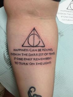 Childhood Was Used To Be Awesome With Harry Potter. It made us laugh, it made us cry but above all it thought us about the most important lessons in life like friendship and love. This craze after all this time? Always. My harry potter tattoo - beautiful technique on the deathly hallows black and white sleeve | Harry Potter | Harry Potter Tattoo |