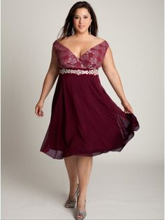 Plus Size Mother of the Bride Dress Cocktail Dress Plus Size Dress. This would also be a great bridesmaid's dress.my fav:) Plus Size Formal Dresses, Plus Size Prom, Plus Size Cocktail Dresses, Evening Dresses Plus Size, Plus Size Wedding, Plus Size Outfits, Vestidos Color Vino, Vestidos Plus Size, Mode Plus