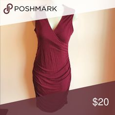 • Apt. 9 • Ruched Bodycon Dress - Apt. 9 Bodycon Dress  - Burgundy  - Medium - Excellent Condition Apt. 9 Dresses Mini