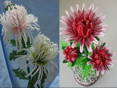 Цветы из бисера. Кувшинка (Часть 2/2) - YouTube