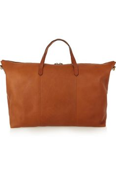 #breestylespeaks Madewell | Transport leather weekend bag | NET-A-PORTER.COM