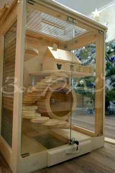Cage for Chinchillas, su casita c: Cage Chinchilla, Ferret Cage, Rat Cage, Degu Cage, Cool Hamster Cages, Bunny Cages, Hamster House, Cat Playground, Rabbit Hutches