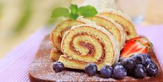 Swiss roll glazed with white chocolate icing Stock Photo Fish Recipes, Cake Recipes, White Chocolate Icing, Swiss Cake, Cupcake Images, Chutney Recipes, Eat Smart, Sin Gluten, Food Videos