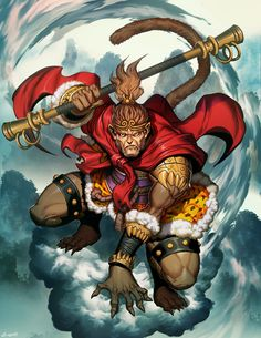 Happy Chinese New Year and happy Year of the Monkey! This is an image of the legendary Sun Wukong from the classical chinese novel Journey to the West. It was done some years ago for Legendary Visi...