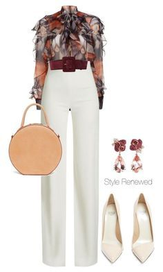 """""""Untitled #464"""" by sherristylz on Polyvore featuring Givenchy, Brandon Maxwell, Francesco Russo, Yves Saint Laurent, Mansur Gavriel and Anyallerie"""
