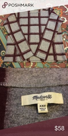 madewell | windowpane sweater * sold out * gently worn; like new! * no trades ❌ * i consider reasonable offers 💌 Madewell Sweaters