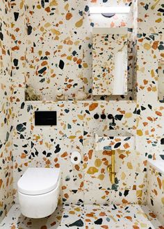 Pair of bathrooms in New York Residence, Marmoreal by Max Lamb   Yellowtrace