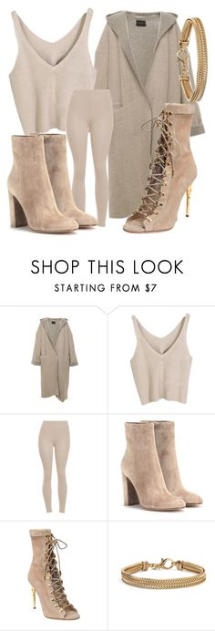 """Untitled #204"" by viviengemesi ❤ liked on Polyvore featuring Gianvito Rossi, Balmain and Blue Nile"