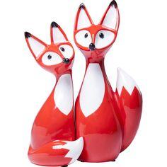 Gefunden bei Wayfair.de - 2-tlg. Figur-Set Fox Couple