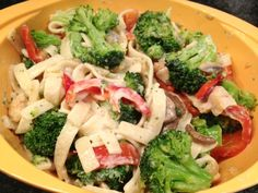 Finished spicy Michelina's alfredo with chicken and veggies