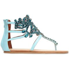 ccd8e6270 11 Best Colorful Jeweled Sandals images