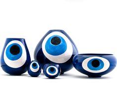 Gaia & Gino - Large Limited Edition Eye Vase #Luxury #Homeware #Nautical