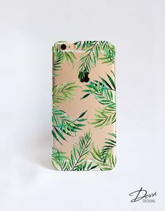 Clear Phone Case With Tropical Leaves Print by Dessi Designs, the perfect gift for Explore more unique gifts in our curated marketplace. Iphone 6, Iphone Cases, Macbook 12, Find Your Phone, Watercolor Artwork, Tropical Leaves, Leaf Prints, Samsung Cases, Blackberry