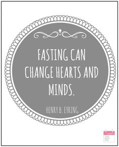 April 2015 FASTING CAN CHANGE HEARTS AND MINDS