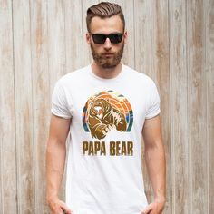 b70fd865 PAPA BEAR Men's T-shirt 🐻 - #PapaBear #Bear #Papa #ilovePapa. Customon