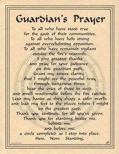 Guardian's Prayer Parchment for Book of Shadows!  pagan wicca witch picclick.com