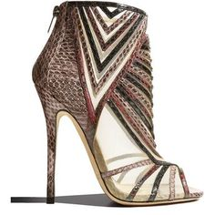 Kara Peep-Toe Snake Ankle Bootie, Multicolor Details Kara style bootie by Jimmy Choo. Open Toe Booties, Ankle Booties, Pretty Shoes, Beautiful Shoes, Snake Print Boots, Adidas Shoes Women, Hot Shoes, Summer Shoes, Pumps