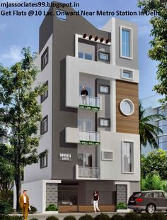 front elevation designs for duplex houses in india Duplex House Design, House Front Design, Small House Design, Cool House Designs, Modern House Design, Front Elevation Designs, House Elevation, Indian House Plans, Independent House