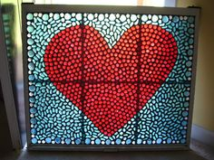 - GLASS CRAFTS - Hi! This was a free window that was given to me by the lovely Jess Wal and I decided to make this out of it. Window Art, Window Panes, Window Glass, Mirror Glass, Window Ideas, Door Ideas, Mirror Mirror, Mosaic Art, Mosaic Glass