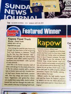 Winner of BEST Food Truck 2014!!