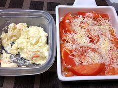 これから少しだけ原稿するね - 1件のもぐもぐ - 夜食のポテトサラダとトマトオーブン焼き by uniq
