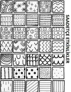 Doodle Patterns 323696291970555613 - Source by frederiquedubos Doodle Art Drawing, Zentangle Drawings, Zen Doodle, Drawing For Kids, Art For Kids, Zentangles, Doodle Patterns, Zentangle Patterns, Arte Elemental